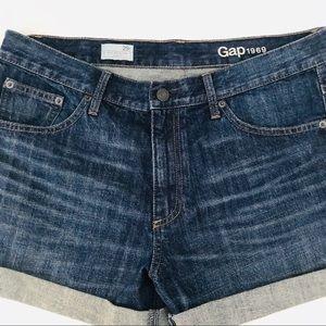 GAP 1969 Sexy Boyfriend Denim Shorts Cuffed